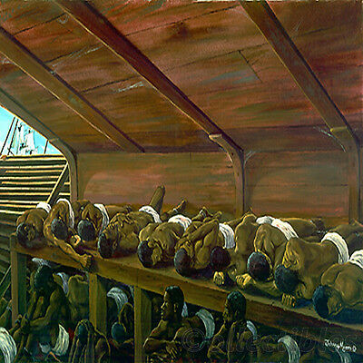 African American Historic Apex Slave Ship By Johnny Myers Open Edition Great Buy
