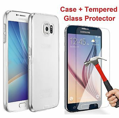 Ultra - Slim Shockproof Clear Hard Case Cover for Samsung Galaxy S5 S6 S7 Edge