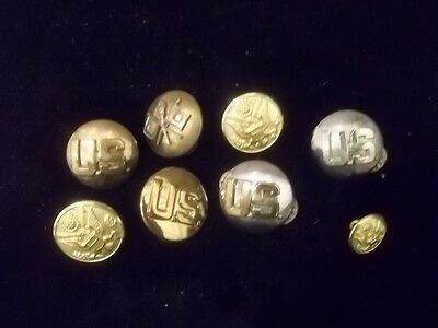 VINTAGE Military Army Lapel PINS BUTTONS Pinbacks LOT TR