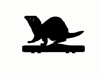 FERRET mailbox topper METAL 9 inch BLACK HAMMERED PAINT
