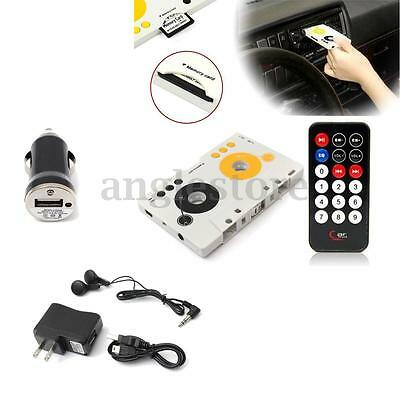 Car Audio Tape Cassette SD MMC MP3 Player Stereo Adapter Kit w/ Remote Control