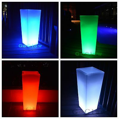 GoGlow LED Tall Ice Bucket / Colour Changing / Rechargeable