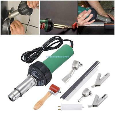 1500w Plastic Hot Air Heat Gun Gas Welder w/ Triangle/Round Speed Welding Nozzle