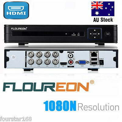 FLOUREON 8CH AHD 1080N HDMI H.264 CCTV Home Security Video Recorder Cloud DVR AU
