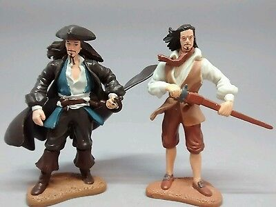 Pirates of the Caribbean Jack Sparrow and Orlando Bloom cake topper