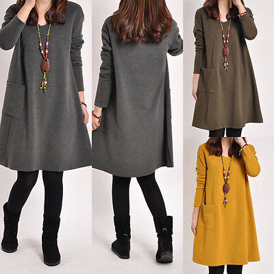 UK Fashion Women Maternity Dress Ladies Casual V-neck Long Sleeve Loose Blouse