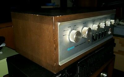 Vintage DYNACO PAT 4A Stereo Preamplifier Preamp Phono with Org Wooden Cabinet