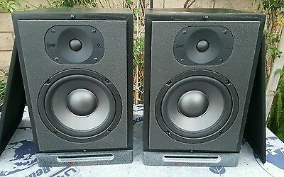 Vintage RSL ROGERSOUND LABS CG-8a Compression Guide Speakers Pair Monsters Cable