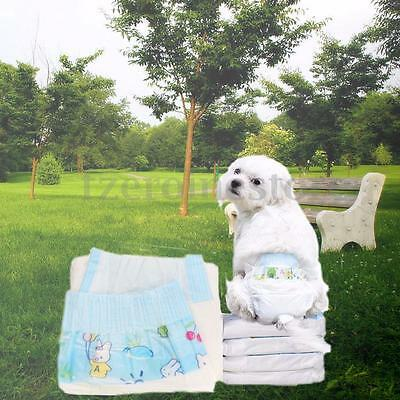 New Clean Comfy Pet Disposable Dog Doggy Cat Cotton Diaper Diapers Nappy Pads