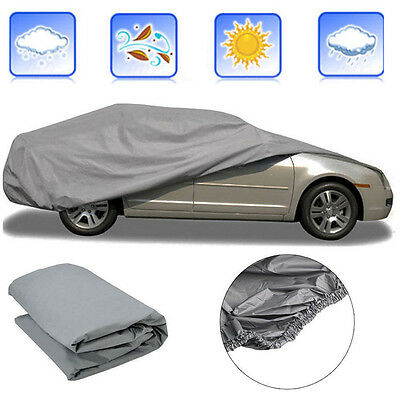 Medium Size Outdoor Indoor Full Car Cover UV Protection Waterproof Breathab AG