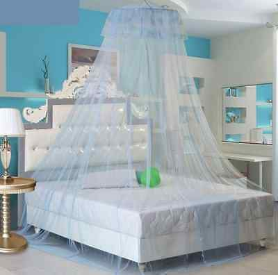 Mosquito Net Bed Canopy Netting Curtain Dome Fly Midges Insect Stopping Blue AG