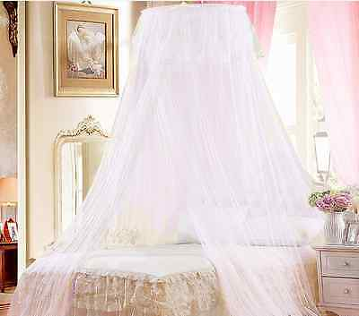 White Mosquito Net Fly Insect Protection Sing Entry Doub King Size Canopy AG