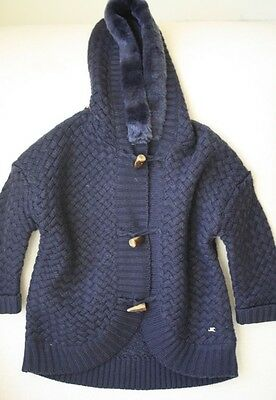 Mayoral Baby Navy Knitted Duffle Jacket Coat 3 Years