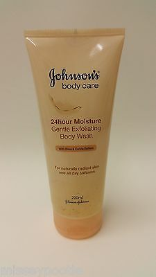 Johnson's 24 Hour Moisture Exfoliating Body Wash Shea & Cocoa Butter