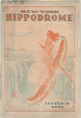 1910 1911 New York Hippodrome Souvenir Theatre Book Program ww1456