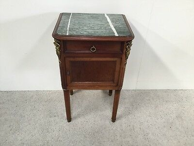 Victorian French Marble Top Bedside Cabinet Pot Cupboard Good Size