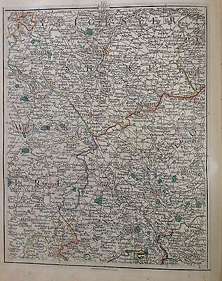 Antique John Cary Map 1794 Midlands Leicester Coventry Northampton Rugby Rare