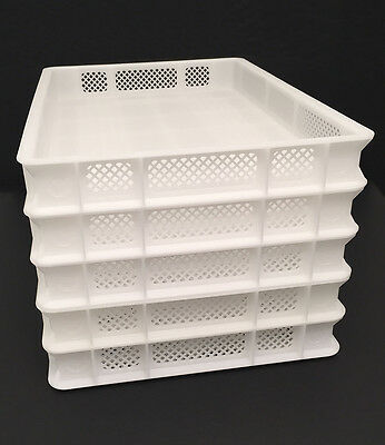 5 Pasta Drying Rack Trays Perforated White Plastic for Pasta Machines Extruders