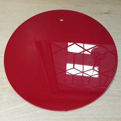 CLEARANCE  Perspex Acrylic Plastic 433 Red Disc Circle 3mm. Laser Cut 200mm wide