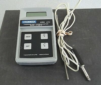 Omega 450-ATH Thermistor Thermometer Temperature Tester -14.4 to 217.8 F