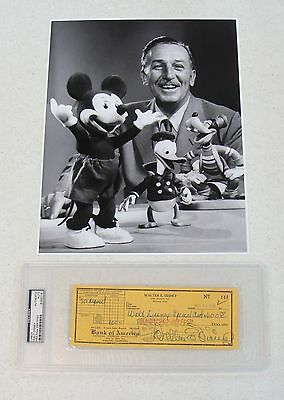 Walt Disney 11x14 Photo Signed Check Autograph Auto PSA/DNA Mickey Mouse Goofy