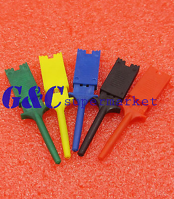 5PCS Multimeter Lead Wire Kit Hook Clip Grabbers Test Probe SMD IC Cable DIY