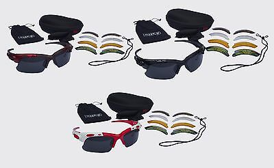 CHEX Europa Running Sports Glasses Sunglasses 5 Interchangeable Lenses Tinted