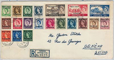 57303 - TANGIER - POSTAL HISTORY: SG 323/42 on REGISTERED COVER to SWITZERLAND