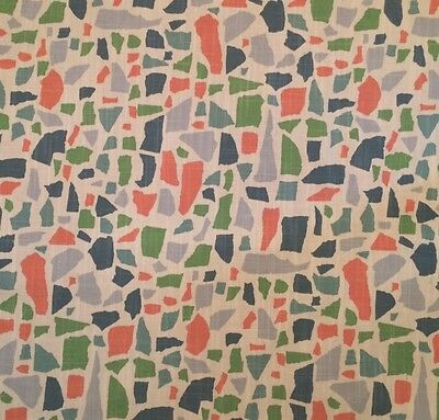 LULU DK Abstractions Multi Cotton Linen Remnant New