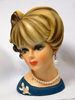 Vtg Mid Century Pin Up Woman Napcoware Japan Head Vase