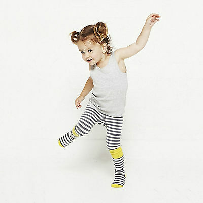 Halloween Baby Cotton Tights Yellow Blue Girls Pantyhose Striped Toddlers
