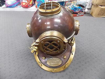 Antique style Diving  Helmet solid Brass U.S Navy Mark
