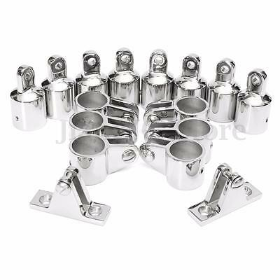 4-Bow 25mm Bimini Top Boat Stainless Steel Fittings Marine Hardware 16pcs Set