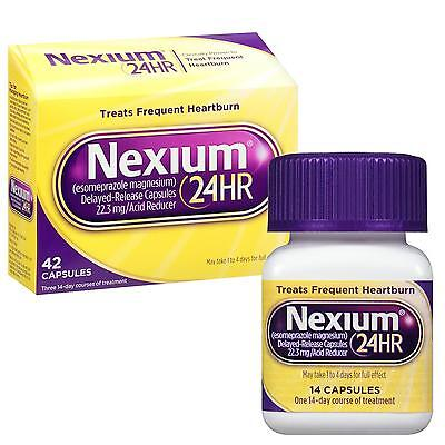 NEW Nexium 24-Hour Delayed Release Heartburn Relief 42-count Blocks Frequent