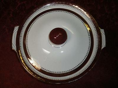 Retro Porcelain Serving Dish And Lid Alfred Meakin Made In England