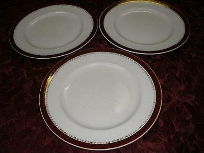Retro Porcelain Breakfast Plates X 3  Alfred Meakin Made In England