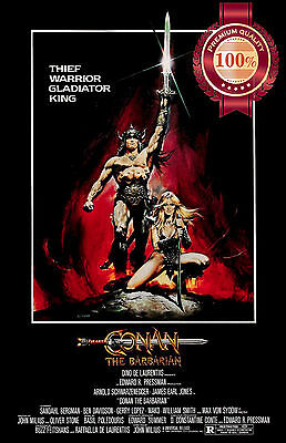 New Conan The Barbarian 1982 80 Arnold Schwarzenegger Movie Print Premium Poster