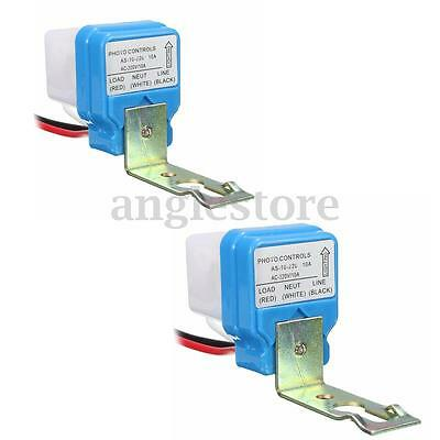 2pcs Automatic Auto On Off Street Light Switch Photo Control Sensor for AC 220V