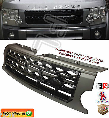 Land Rover Discovery 3 Front Grille Grey/black Disco 4 Style Conversion