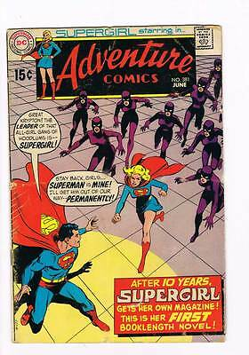 Adventure Comics # 381 Supergirl 1st Series ! grade 3.0 scarce hot book !!