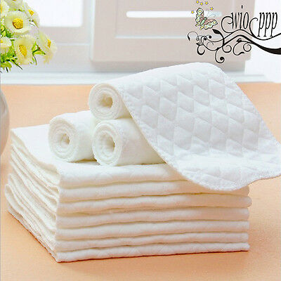 Lots 1/5/10 PCS Reusable Baby Cloth Diaper Nappy Liners insert 3 Layers Cotton