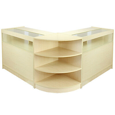 Shop Counters Maple Retail Display Storage Cabinets Jewellery Showcase Libra