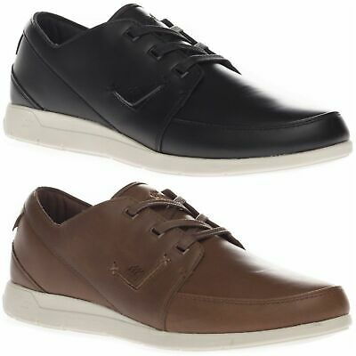 Boxfresh Men's Keel Katashi Leather Low Top Casual Black Brown Trainers Shoes