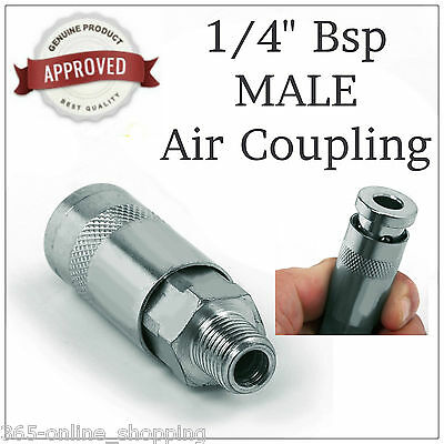 "Large Air Line Hose Connector Fitting male Quick Release 1/4"" BSP male Coupling"