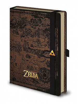 The Legend of Zelda Premium Notizbuch DIN A 5 Hyrule Karte