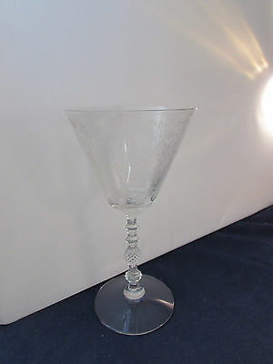 SET OF FOUR - Cambridge Crystal DIANE 3122 Water Goblets