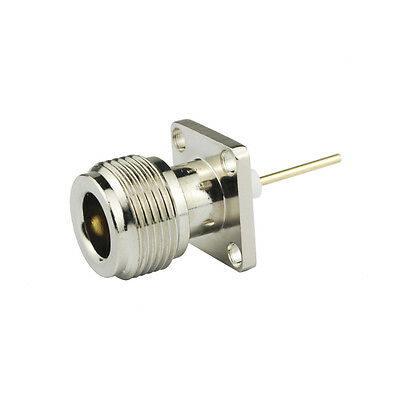 N-Type female Jack 4 Hole panel Mount solder post with 5mm extended Insulators