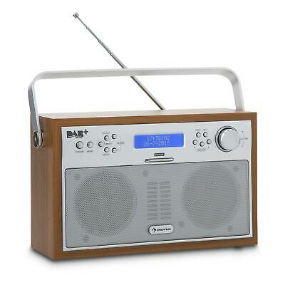 Auna Radio Digitale Radio Portatile Dab+ Radio Fm Display Digitale Legno Noce