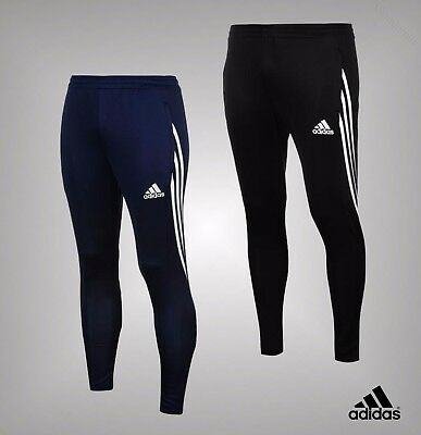 Mens Genuine Adidas 2 Zip Pockets 3 Stripe Sereno Track Pants Bottoms Size S-XXL