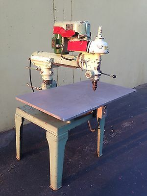 "Walker Turner 31"" Radial Drill Press, 7"" Quill Travel Excellent!"